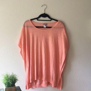 🎟 J. Jill XS/S Peach Top